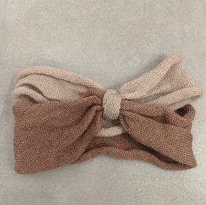 ❤️3/$25 H&M Soft Knit Headband Pink Knot Twist